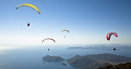 parachuting: Parachuting Stock Photo