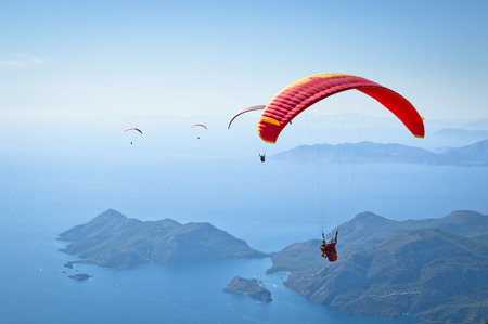 Parachuting 免版税图像