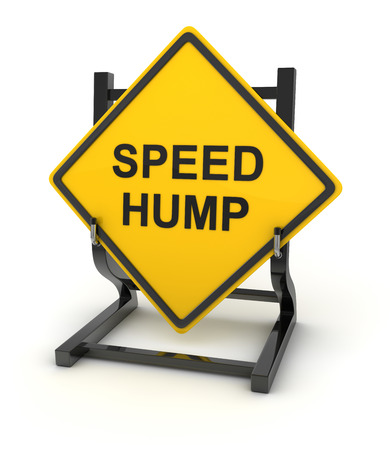 hump: Road sign - speed hump , This is a computer generated and 3d rendered picture.