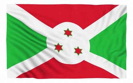 burundi: Flag of Burundi , isolated on white. Stock Photo