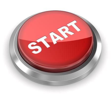 push button: Push Button - Start Stock Photo