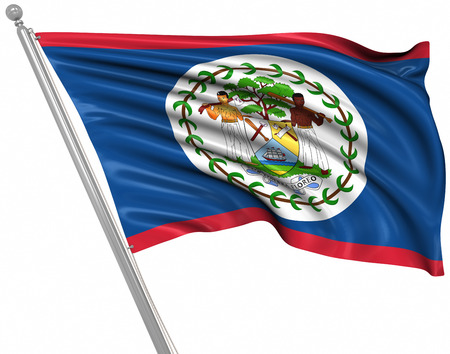 rippled: Flag of Belize , This is a computer generated and 3d rendered picture.