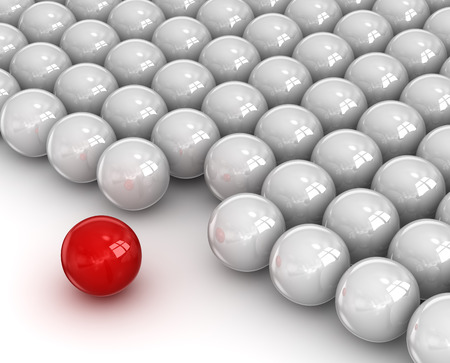 Leader red ball , This is a computer generated and 3d rendered picture.