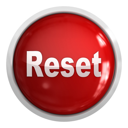 Reset-Taste, Dies ist ein Computer generierte und 3D-gerenderten Bild. Standard-Bild - 42858209