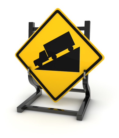 ramp: Road sign - ramp , This is a computer generated and 3d rendered picture.