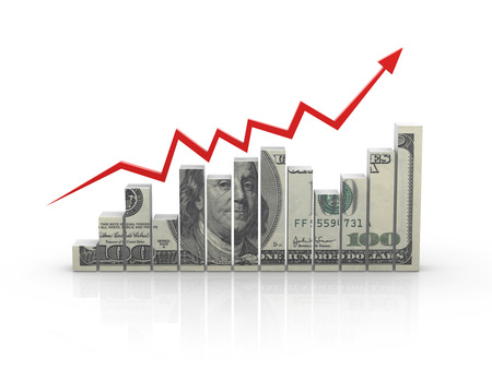 Money chart , This is a computer generated and 3d rendered picture.