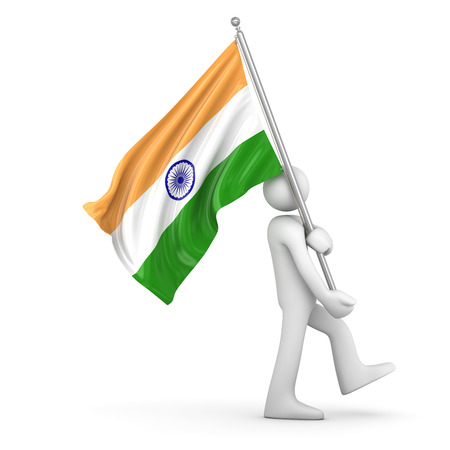 flag pole: Flag of India , This is a computer generated and 3d rendered picture.