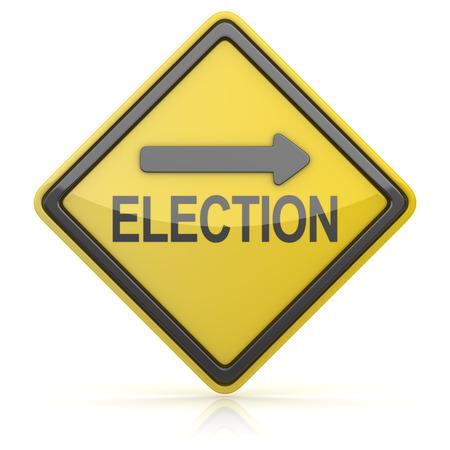 znak drogowy: Znak drogowy - Wybory Ahead