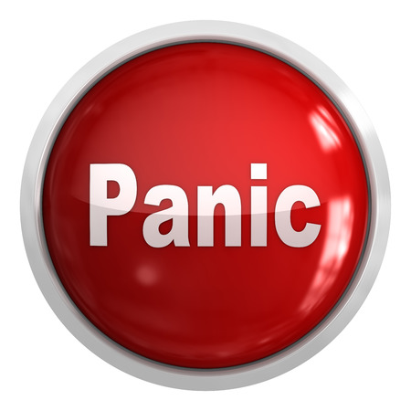 panic button: Panic button , This is a computer generated and 3d rendered picture. Stock Photo