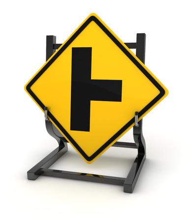 crossroad: Road sign - crossroad , This is a computer generated and 3d rendered picture. Stock Photo