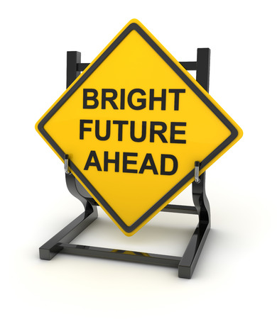 bright future: Road sign - bright future ahead , This is a computer generated and 3d rendered picture.