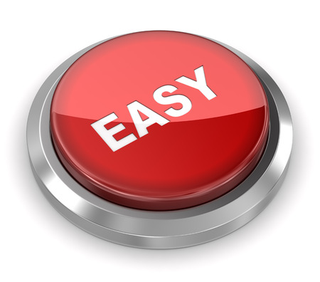 easy: Push Button - Easy Stock Photo