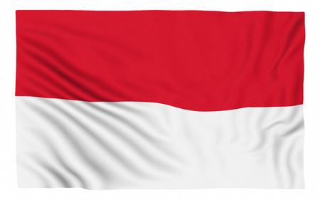 bandera blanca: Bandera de Indonesia, aislado en blanco. Foto de archivo