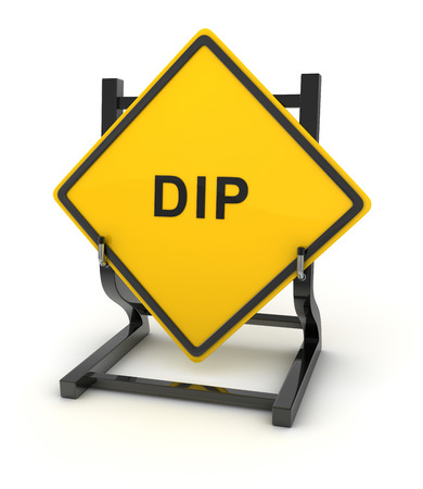 dip: Road sign - dip , This is a computer generated and 3d rendered picture.