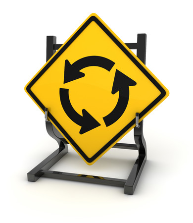 crossroad: Road sign - crossroad, this is a computer generated and 3d rendered picture. Stock Photo