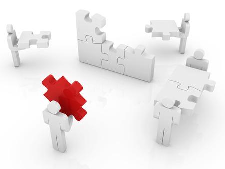 Bâtiment de puzzle. Ceci est une image générée par ordinateur et 3d rendu. Banque d'images - 43016650