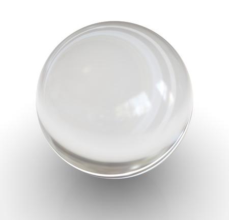 pelota: Bola de cristal. Esta es una imagen generada por ordenador y 3d prestados.