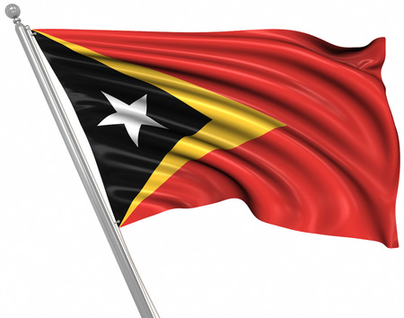 rippled: Flag of East Timor , This is a computer generated and 3d rendered picture.