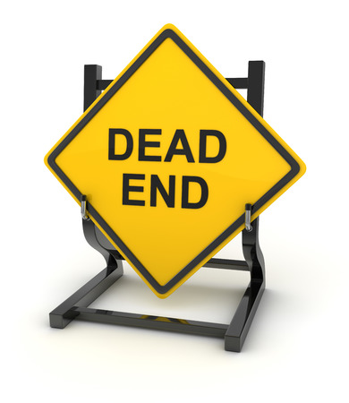 end of the road: Road sign - dead end , This is a computer generated and 3d rendered picture.