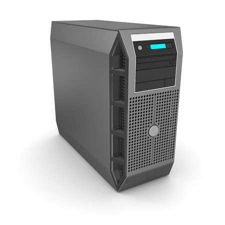 fileserver: Workstation , This is a computer generated and 3d rendered picture. Stock Photo