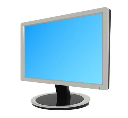 screen: Flat screen television , blank screen.