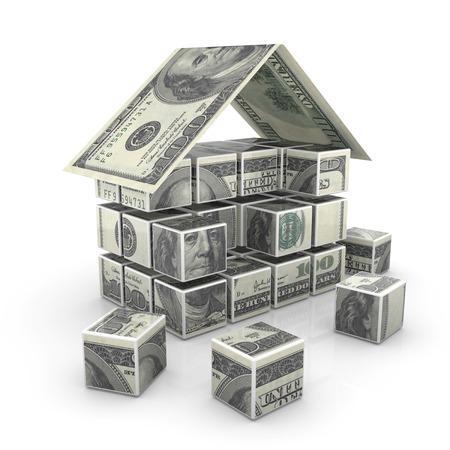 お金の家、これはコンピューター生成と 3 d の画像。 写真素材