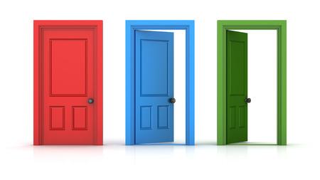 Abra la puerta, Esta es una imagen generada por ordenador y 3d prestados.