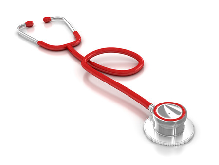 stethoscope: Isolated stethoscope , This is a computer generated and 3d rendered image.