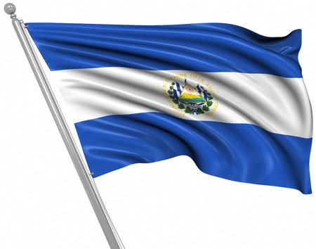 bandera de el salvador: Bandera de El Salvador, Esta es una imagen generada por ordenador y 3d prestados. Foto de archivo