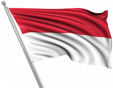 rippled: Flag of Indonesia , This is a computer generated and 3d rendered image.