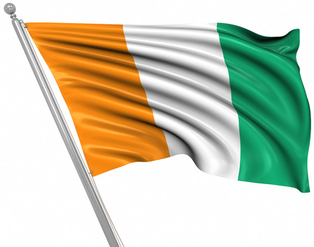 cote d ivoire: Flag of Cote d Ivoire , This is a computer generated and 3d rendered image.