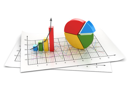 Business chart , This is a computer generated and 3d rendered image. Foto de archivo