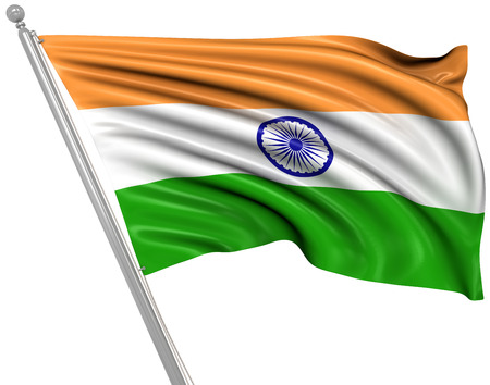 india 3d: Flag of India , This is a computer generated and 3d rendered image.