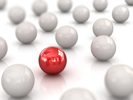Individuality , Different Ball Stock Photo