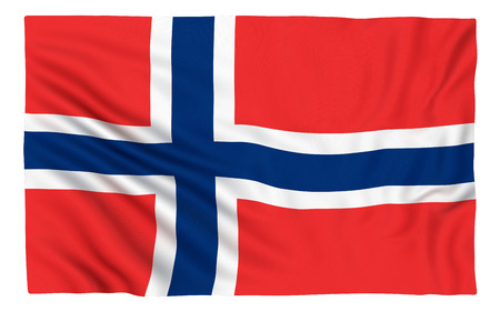 norway flag: Flag of Norway , isolated on white.