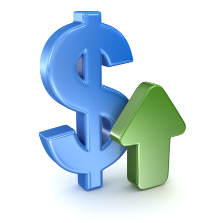 Symbole du dollar et Arrow Banque d'images - 43738358