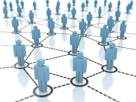 Network People Standard-Bild