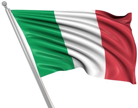 Drapeau de l'Italie, Ceci est une image générée par ordinateur et 3d rendu. Banque d'images - 43738272