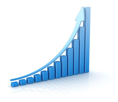 バー グラフ、コンピューター生成された、3 d レンダリングされた画像です。