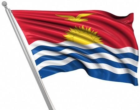 kiribati: Flag of Kiribati , This is a computer generated and 3d rendered image. Stock Photo