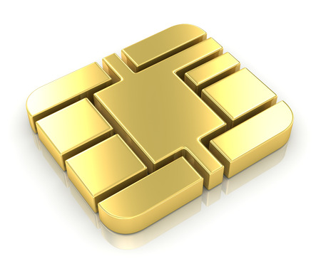 credit card: Chip de la tarjeta de crédito