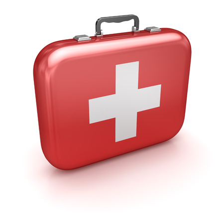 first aid sign: First Aid Kit Stock Photo
