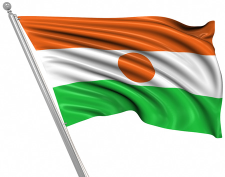 rippled: Flag of Niger , This is a computer generated and 3d rendered image.