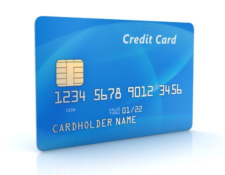 青いクレジット カード 写真素材