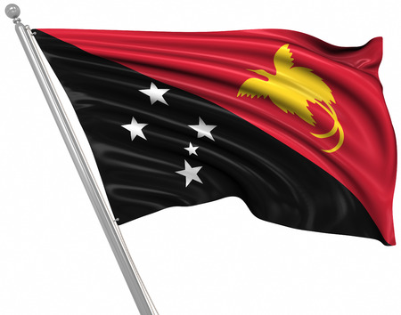 papua: Flag of Papua New Guinea , This is a computer generated and 3d rendered image.