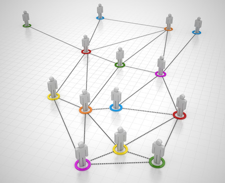 Business Network , This is a computer generated and 3d rendered picture. Standard-Bild