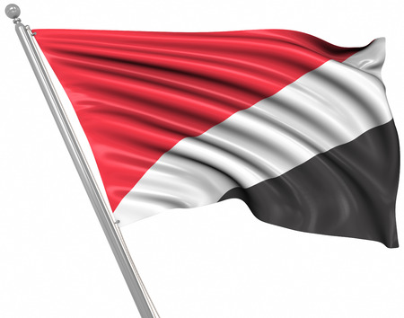 sealand: Flag of Sealand , This is a computer generated and 3d rendered image. Stock Photo