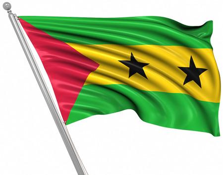 principe: Bandera de Santo Tomé y Príncipe, Esta es una imagen generada por ordenador y 3d prestados.