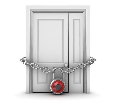 locked the door locked: Locked Door , This is a computer generated and 3d rendered picture.
