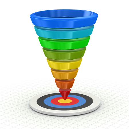 Funnel Graph , This is a computer generated and 3d rendered picture.